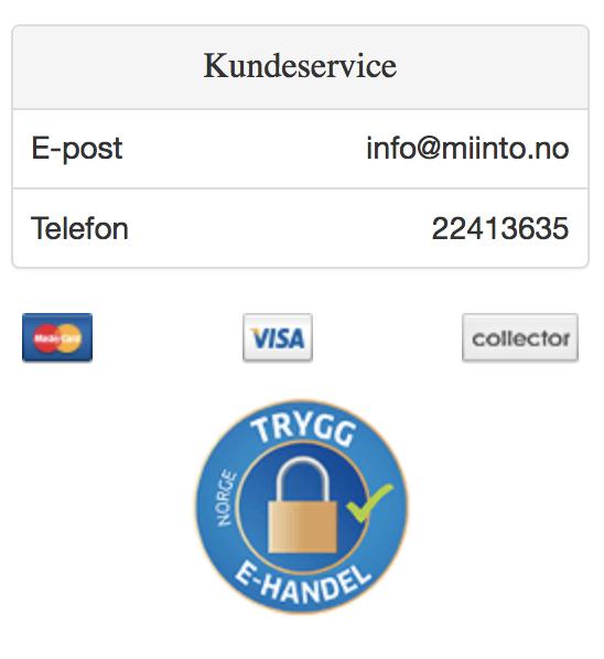 2d1b93a0 Denne siden inneholder faktisk trygghetsfaktorer som VISA- og  MasterCard-logo, og en sertifisering for trygg e-handel – perfekt!