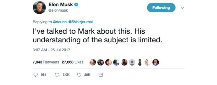 Bilderesultat for elon musk mark zuckerberg tweet