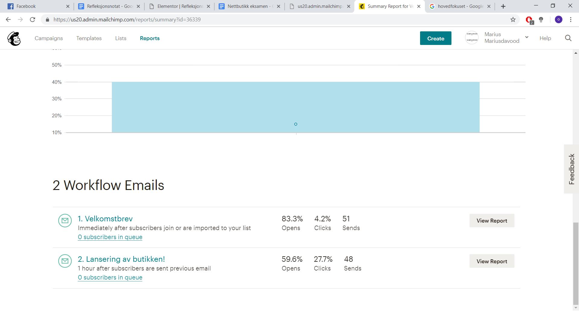 Automatiske e-post utsendelse