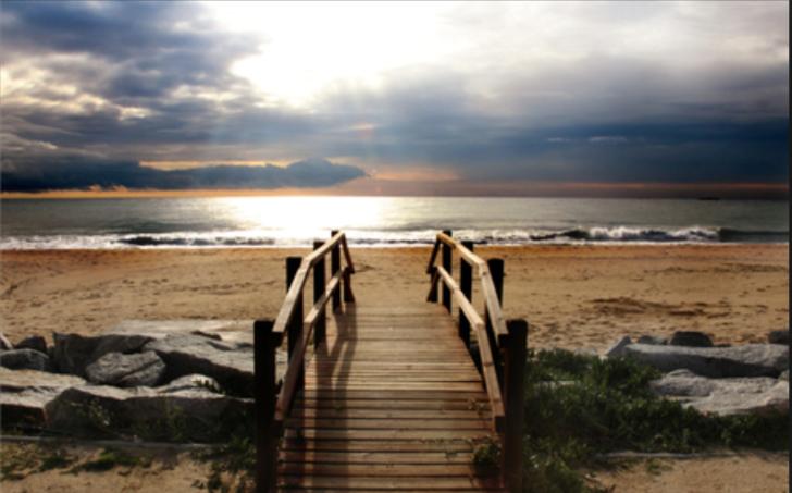 Bilde av en vei til stranden. Dersom målet er den ønskede destinasjonen, er strategi veien til den.